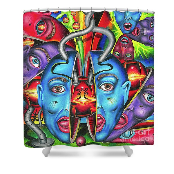 The Esoteric Force Of Molecular Mentality Shower Curtain