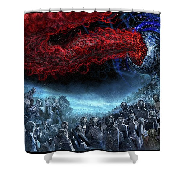 The Essence Of Time Matches No Flesh Shower Curtain