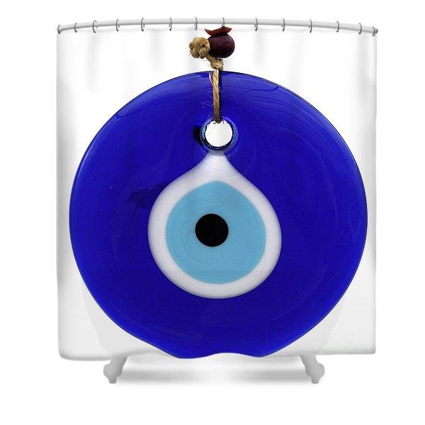 The Eye Against Evil Eye Shower Curtain