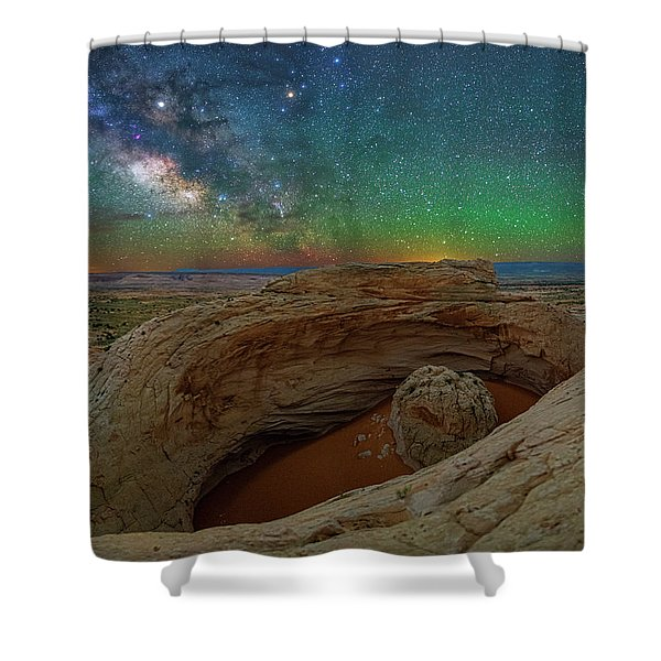 The Eye Of Earth Shower Curtain