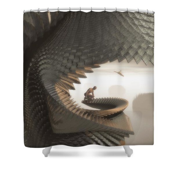 The Eyrie Shower Curtain