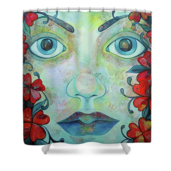 The Face Of Persephone I Shower Curtain