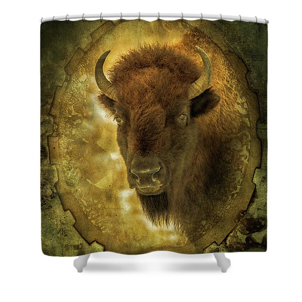 The Face Of Tatanka Shower Curtain