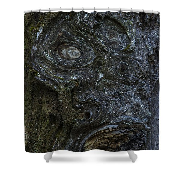 The Face Signed Shower Curtain