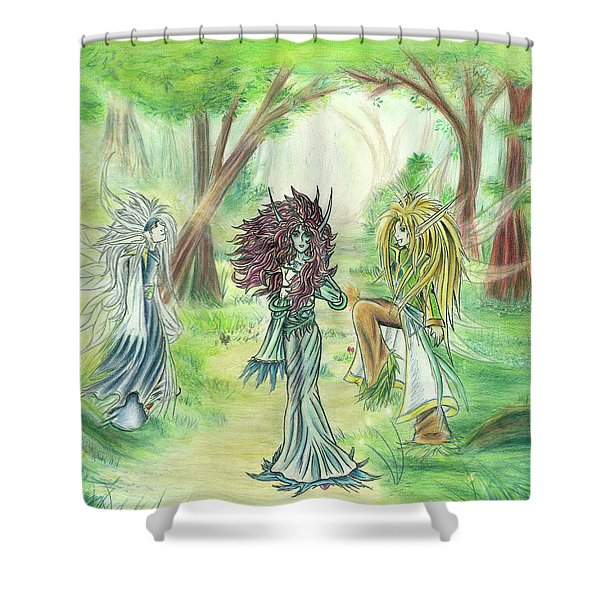 The Fae - Sylvan Creatures Of The Forest Shower Curtain