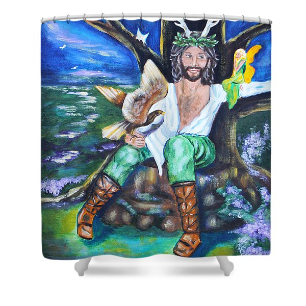 The Faery King Shower Curtain