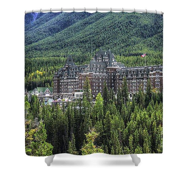 The Fairmont Banff Springs Shower Curtain