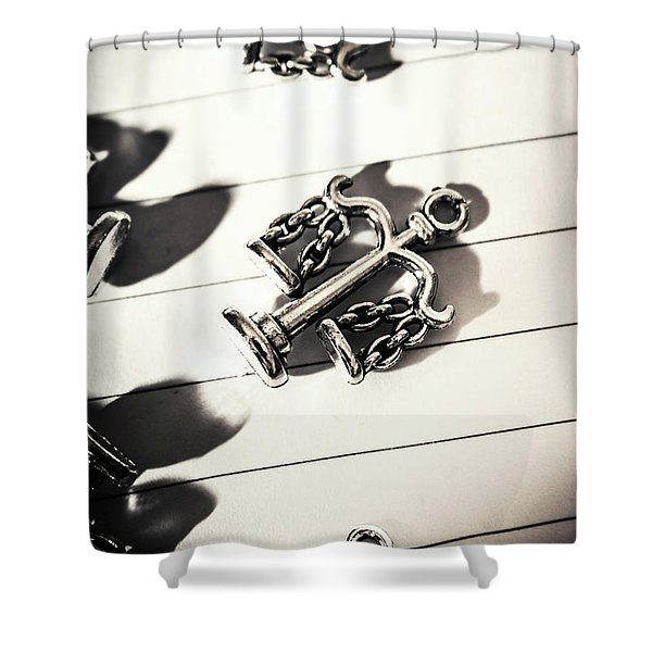 The Fall Of Justice Shower Curtain