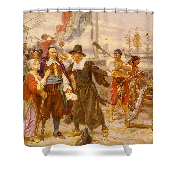 The Fall Of New Amsterdam Shower Curtain