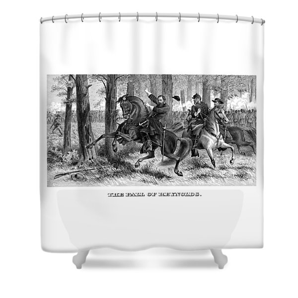 The Fall Of Reynolds - Civil War Shower Curtain