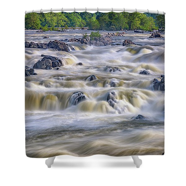 The Falls At Great Falls Park Shower Curtain
