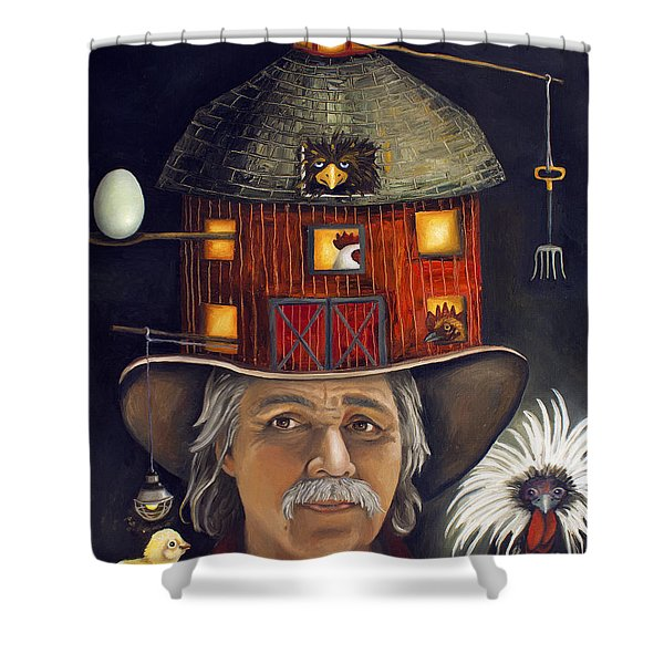 The Farmer Shower Curtain