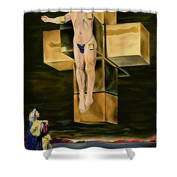 The Father Is Present -after Dali- Shower Curtain