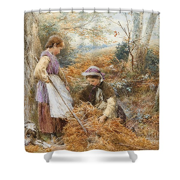 The Fern Gatherers Shower Curtain