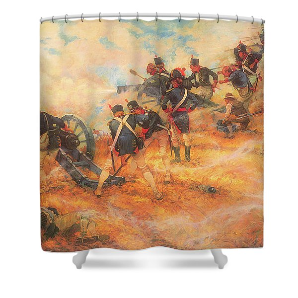 The Final Stand At Bladensburg Maryland In Defense Of Washington D C Shower Curtain
