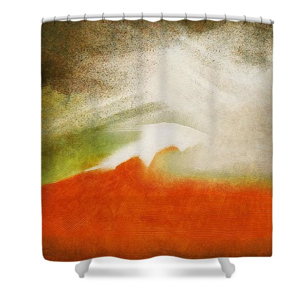 The Fire Mountain - Cotapaxi Shower Curtain