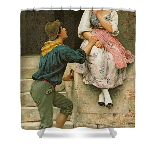 The Fishermans Wooing From The Pears Annual Christmas Shower Curtain
