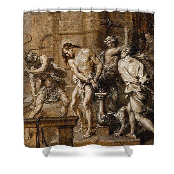 The Flagellation Shower Curtain