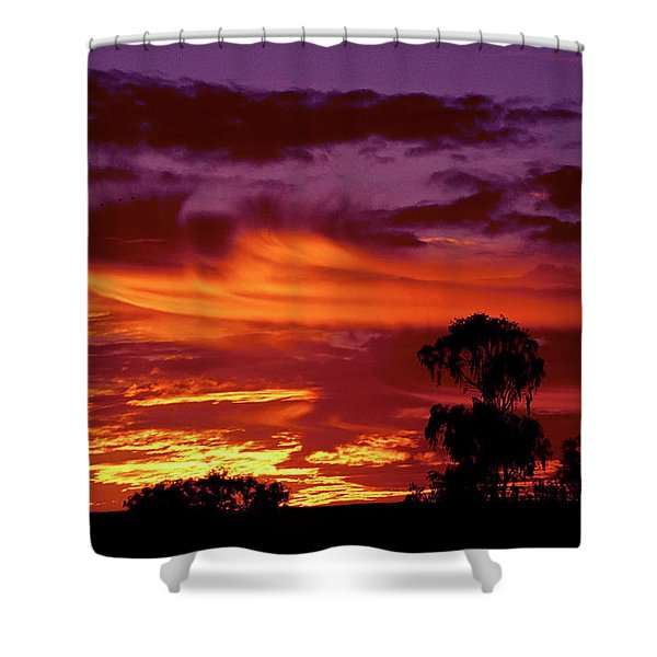 The Flame Thrower Shower Curtain