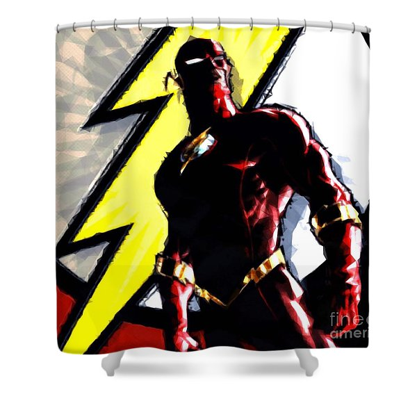 The Flash Shower Curtain