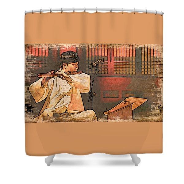 The Flautist Shower Curtain
