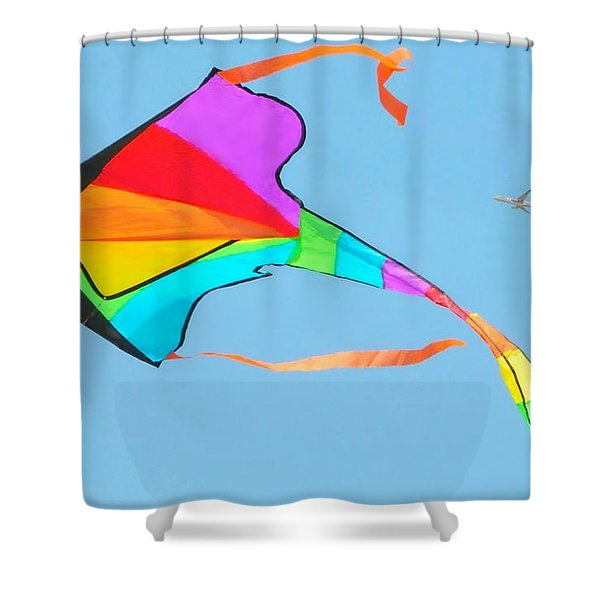 Flight And The Kite Shower Curtain