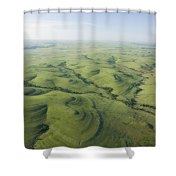 The Flint Hills Of Kansas Shower Curtain