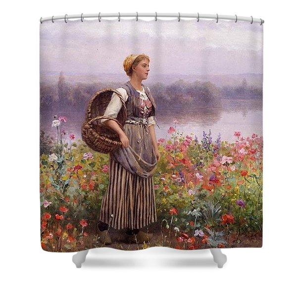 The Flower Girl Daniel Ridgway Knight Shower Curtain