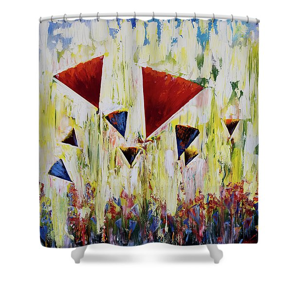 The Flower Party Shower Curtain
