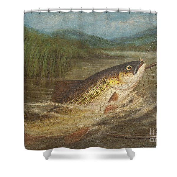 The Fly Fisherman's Net Shower Curtain
