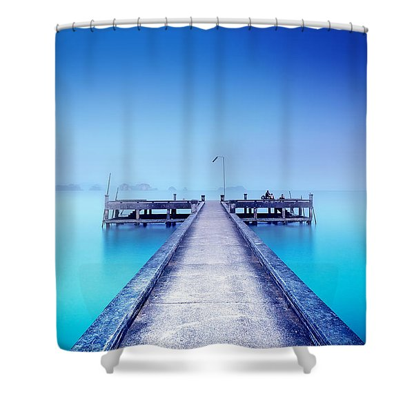 The Foggy Morning Shower Curtain