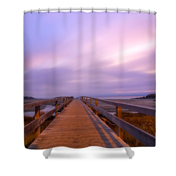 The Footbridge Good Harbor Beach Shower Curtain