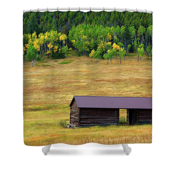 Shower Curtain featuring the photograph The Forgotten Barn by John De Bord
