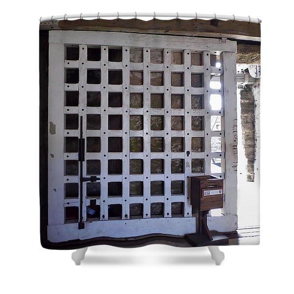 The Fort Door Shower Curtain