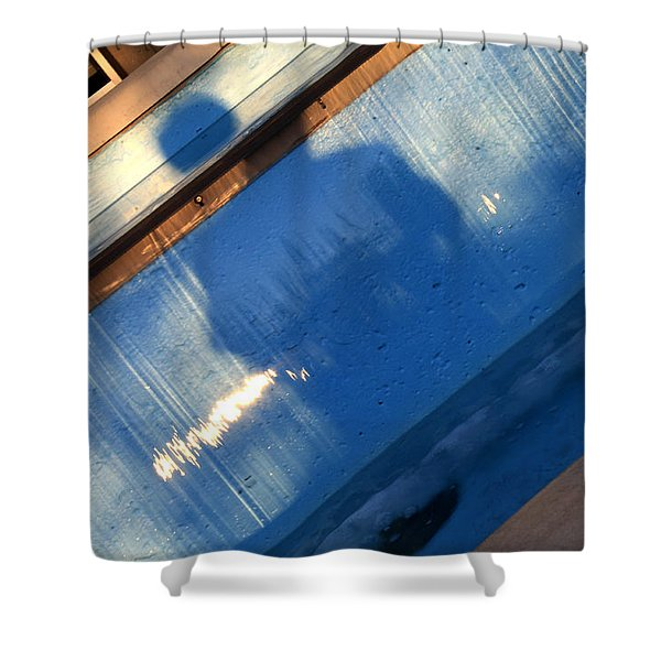 Shower Curtain featuring the photograph The Fountain by Break The Silhouette