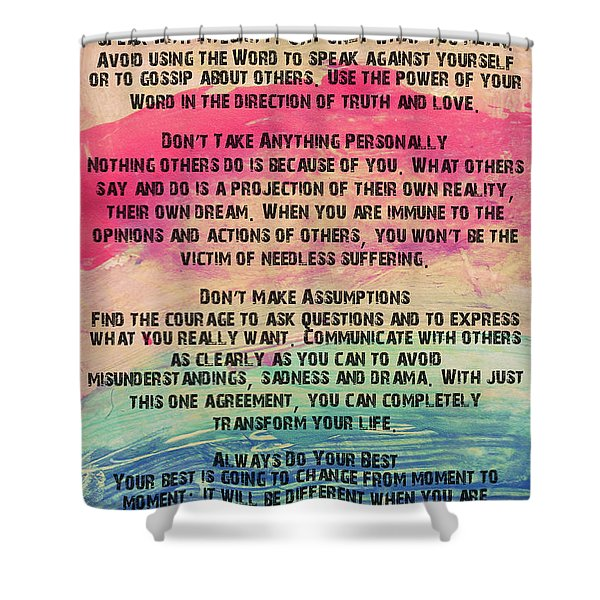 The Four Agreements 11 Shower Curtain