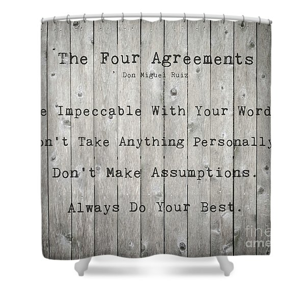 The Four Agreements 12 Shower Curtain