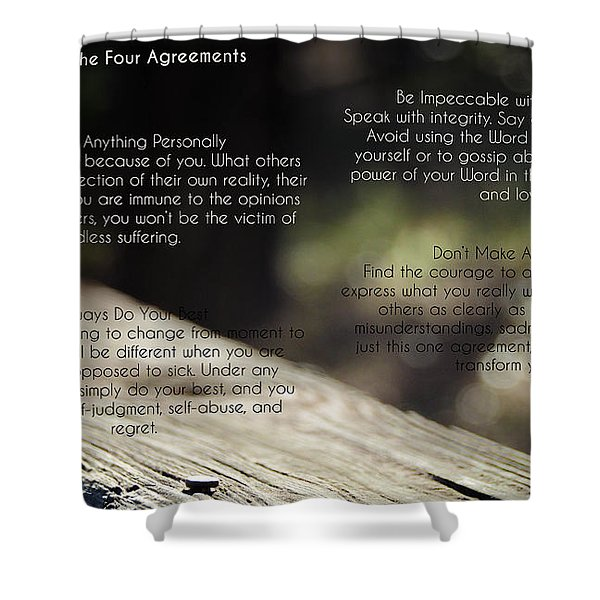 The Four Agreements 4 Shower Curtain