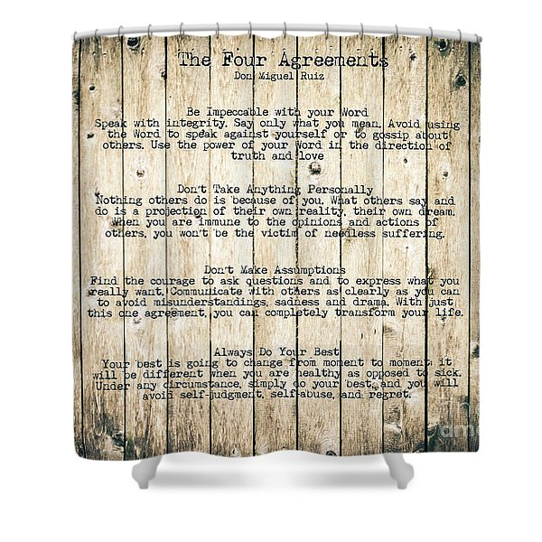 The Four Agreements 8 Shower Curtain