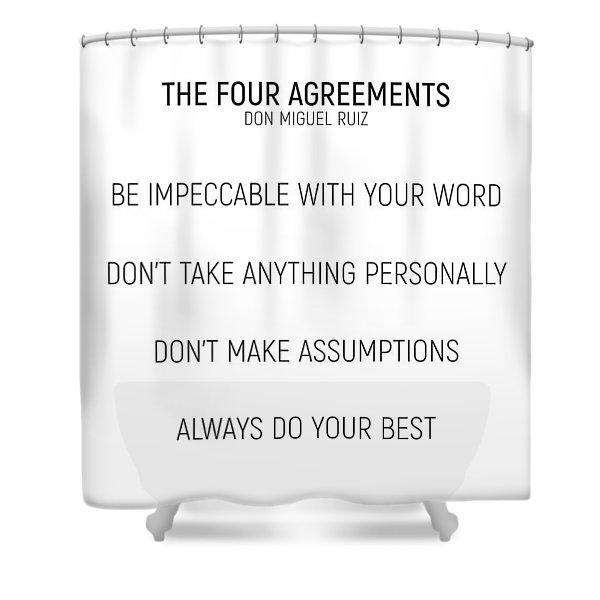 The Four Agreements #minismalism #shortversion Shower Curtain