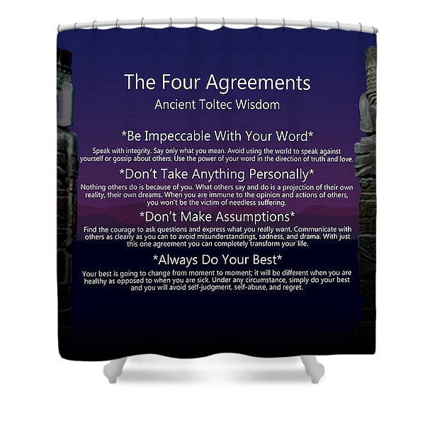 The Four Agreements Poster Shower Curtain