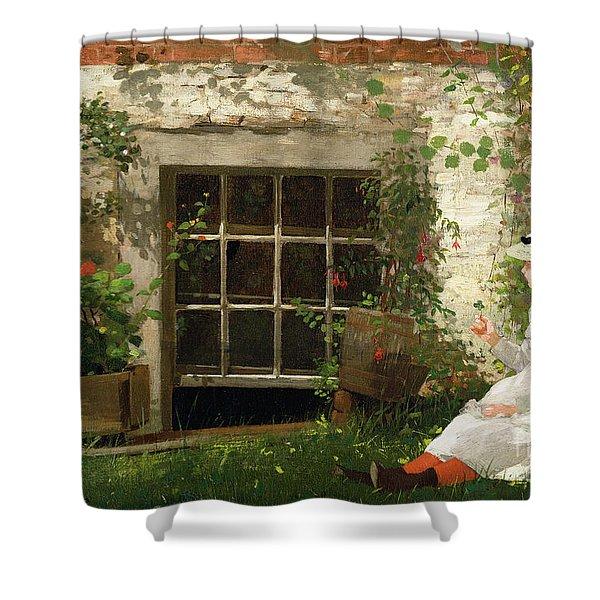 The Four Leaf Clover Shower Curtain