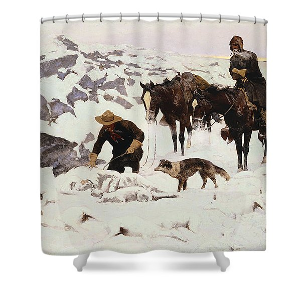 The Frozen Sheepherder Shower Curtain