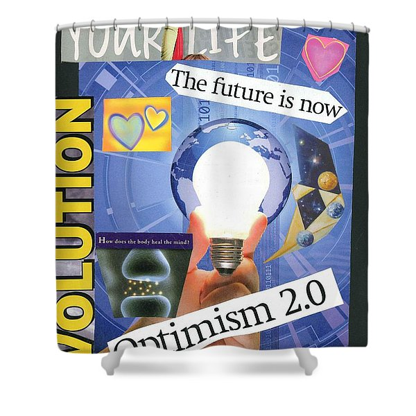 The Future Is Now Shower Curtain