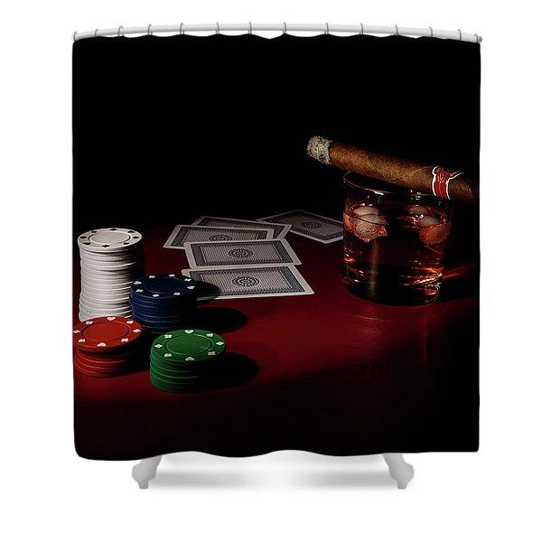 The Gambler Shower Curtain