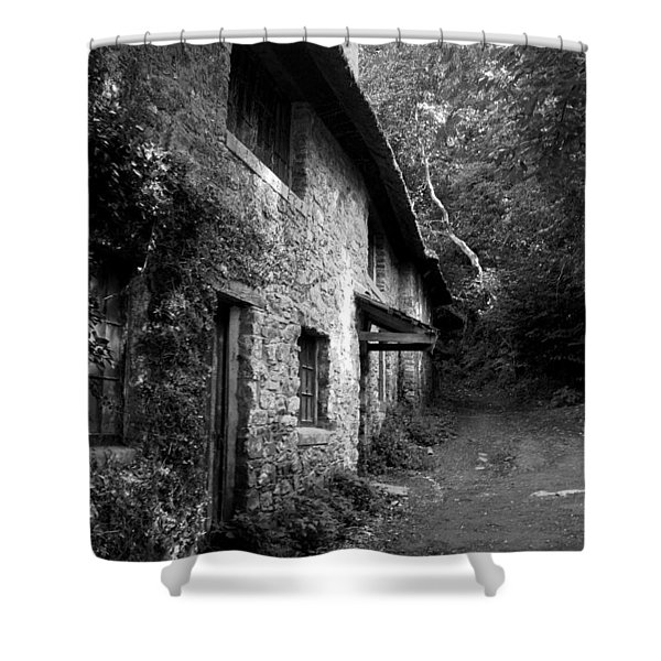 Shower Curtain featuring the photograph The Game Keepers Cottage by Michael Hope
