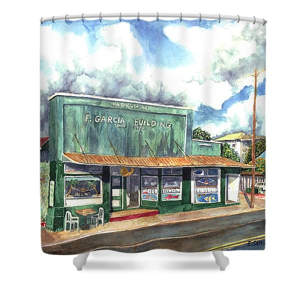 The Garcia Building Shower Curtain