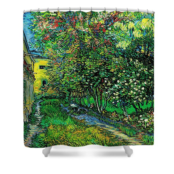 The Garden Of The Asylum At Saint-remy Shower Curtain