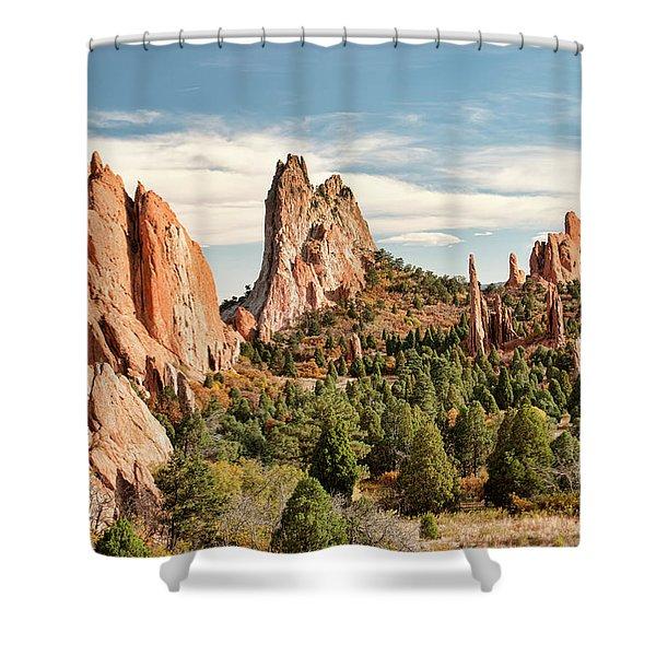The Garden Of The Gods - Colorado Shower Curtain