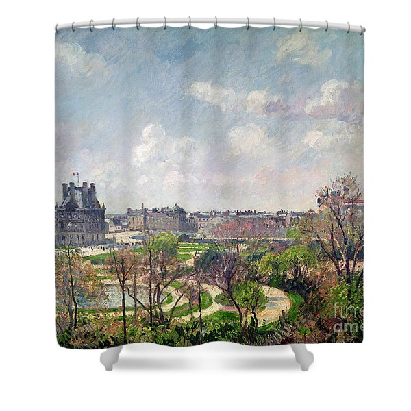 The Garden Of The Tuileries Shower Curtain